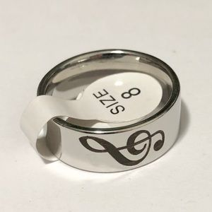 Men's / Women's Music Note Ring, Size 8